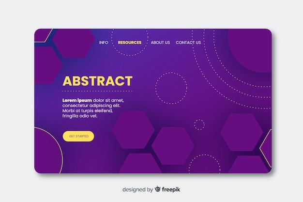 Modèle de page de destination de formes géométriques abstraites