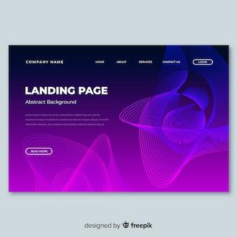 Modèle de page de destination de formes linéaires