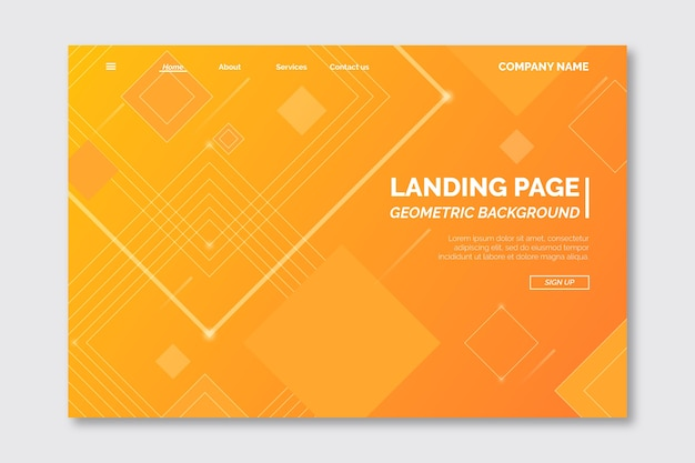 Modèle de page de destination géométrique minimal