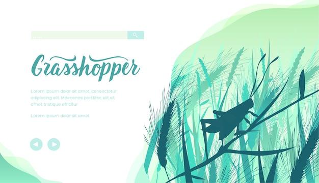 Modèle de page de destination grasshopper