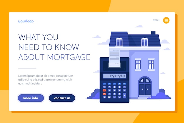 Modèle de page de destination hypothécaire
