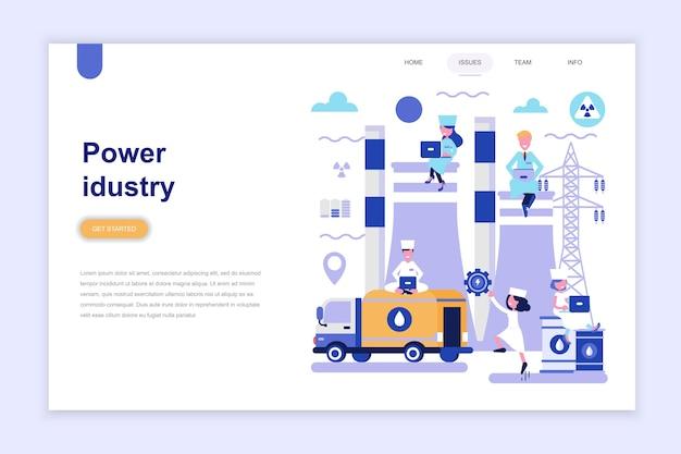 Modèle de page de destination de l'industrie énergétique