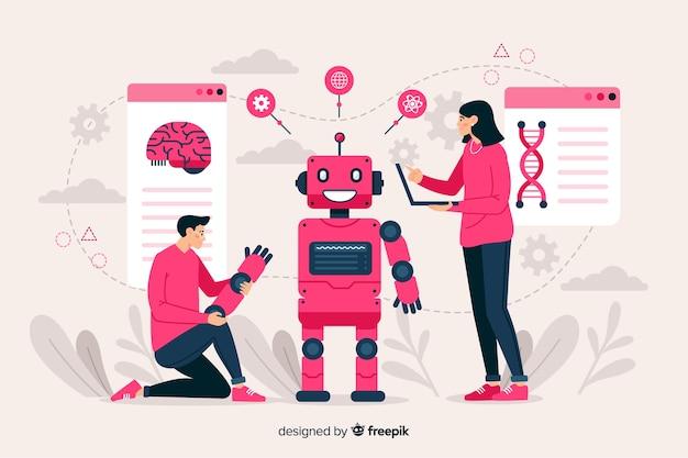 Modèle de page de destination d'intelligence artificielle