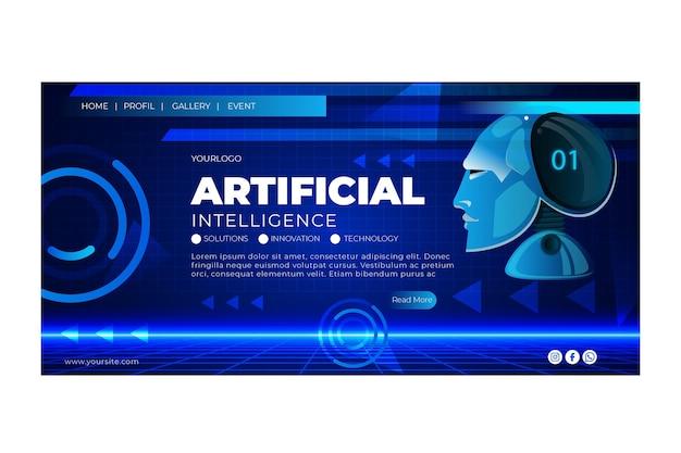 Modèle de page de destination de l'intelligence artificielle