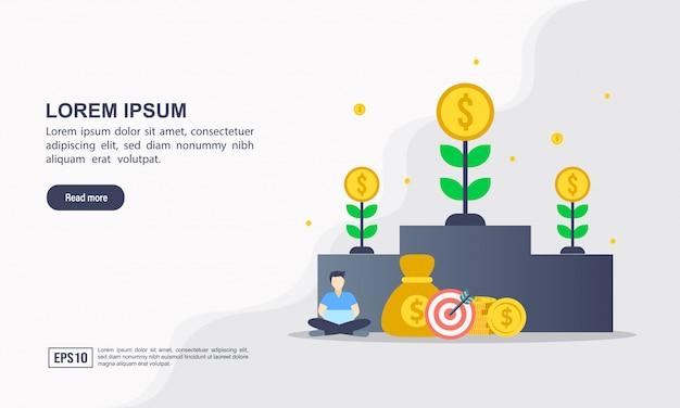 Modèle de page de destination de invest in best idea