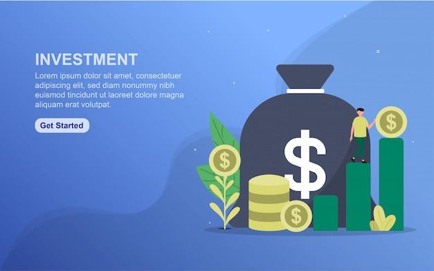 Modèle de page de destination d'investissement.