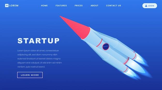 Modèle de page de destination isométrique de startups créatives