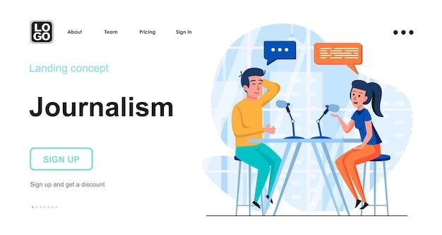 Modèle de page de destination de journalisme