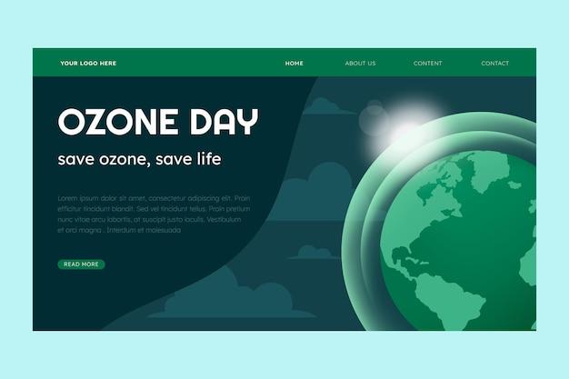 Modèle de page de destination de la journée mondiale de l'ozone dégradé