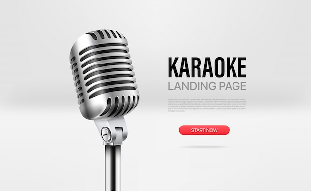 Modèle de page de destination karaoké
