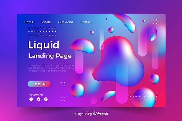 Modèle de page de destination liquide