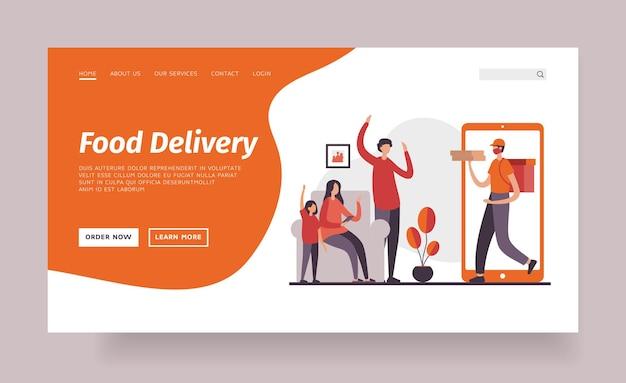 Modèle de page de destination de livraison de nourriture