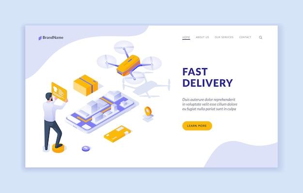 Modèle de page de destination de livraison rapide