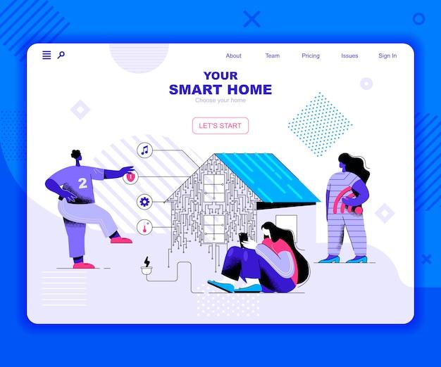 Modèle de page de destination de la maison intelligente