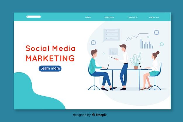 Modèle de page de destination marketing sur les médias sociaux