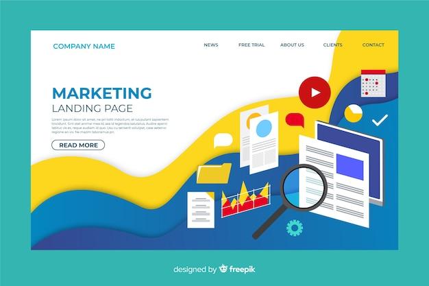 Modèle de page de destination marketing numérique