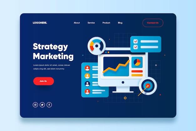 Modèle de page de destination marketing stratégique