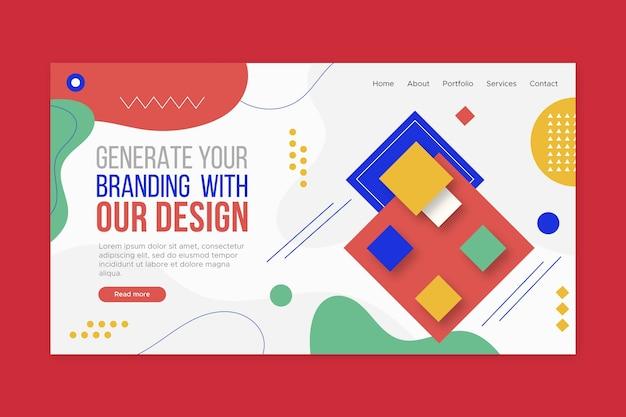 Modèle de page de destination de marque