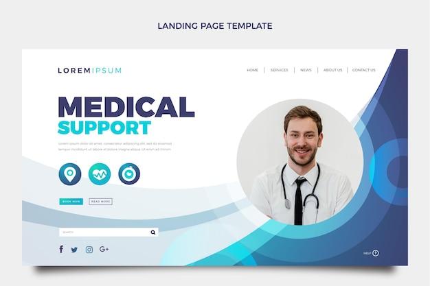 Modèle de page de destination médicale dégradée