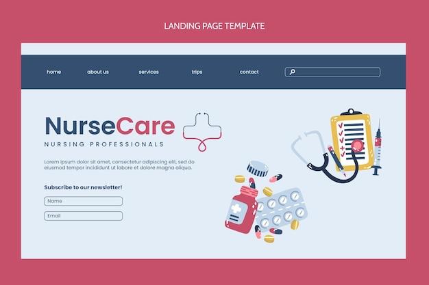 Modèle de page de destination médicale design plat