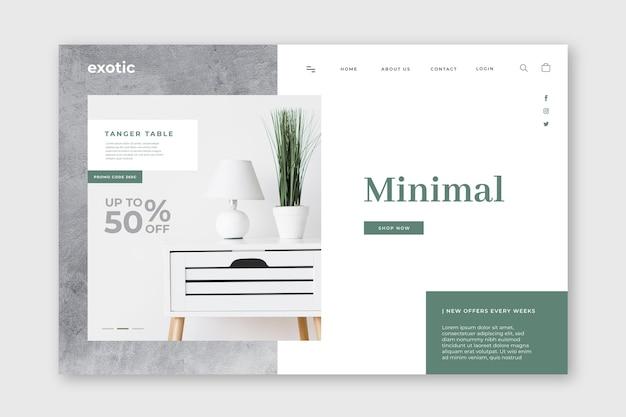 Modèle de page de destination minimal