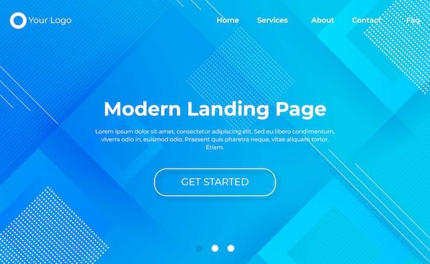 Modèle de page de destination moderne