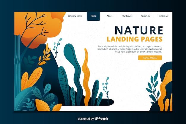 Modèle de page de destination nature concept