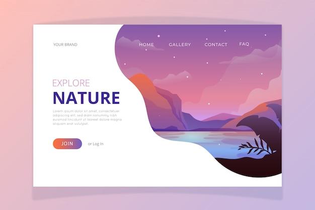 Modèle de page de destination nature