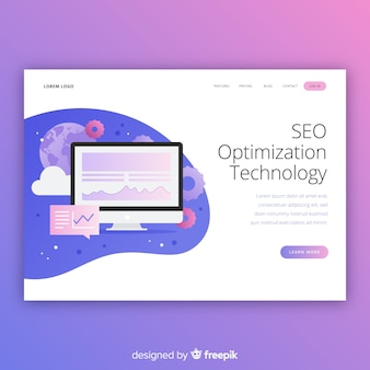 Modèle de page de destination d'optimisation seo