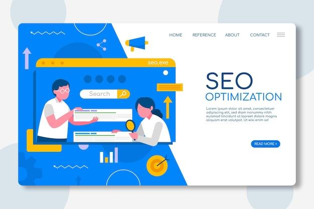 Modèle de page de destination d'optimisation seo