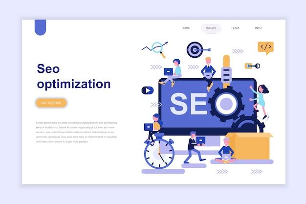 Modèle de page de destination de l'optimisation seo