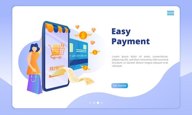 Modèle de page de destination de paiement facile