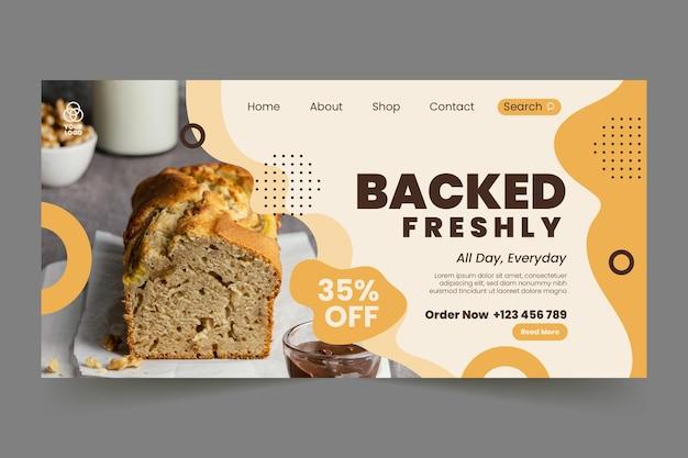 Modèle de page de destination de pain