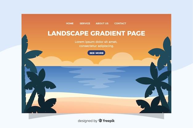 Modèle de page de destination avec paysage
