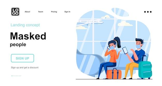 Modèle de page de destination de personnes masquées