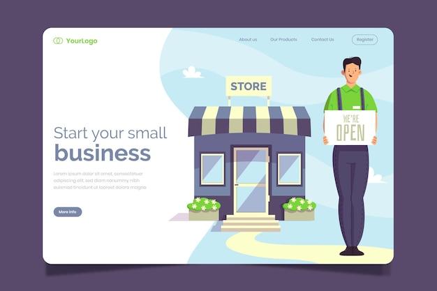 Modèle de page de destination petite entreprise