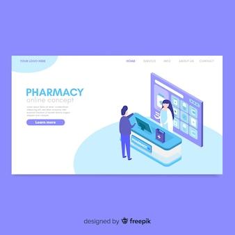 Modèle de page de destination de pharmacie en ligne