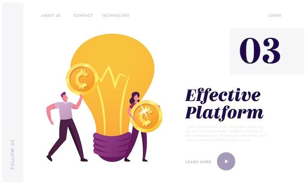 Modèle de page de destination de philanthropie de financement participatif.