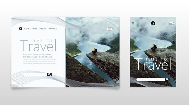 Modèle de page de destination avec photo