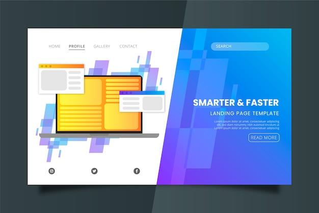 Modèle de page de destination plus intelligent et plus rapide