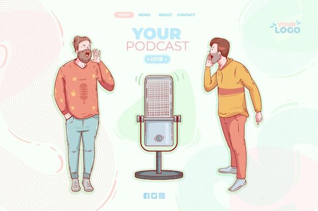 Modèle de page de destination de podcast