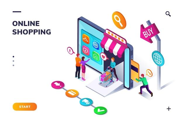 Modèle de page de destination pour les achats en ligne