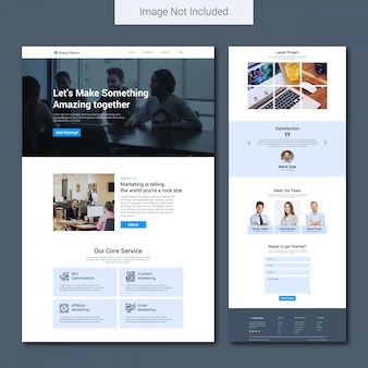 Modèle de page de destination pour agence de marketing