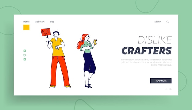 Modèle de page de destination pour les clients insatisfaits ou les utilisateurs internet.