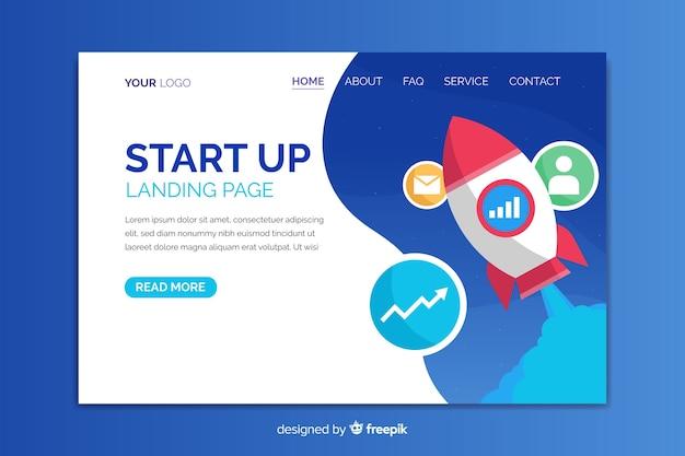 Modèle de page de destination pour le démarrage d'une entreprise
