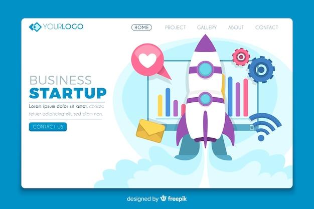 Modèle de page de destination pour démarrage d'entreprise