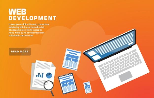 Modèle de page de destination pour le développement web