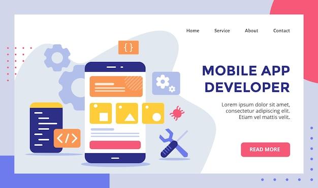 Modèle de page de destination pour les développeurs d'applications mobiles
