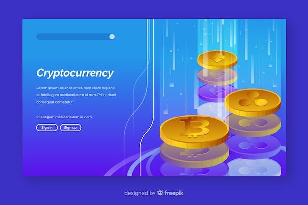 Modèle de page de destination pour échange de crypto-monnaie