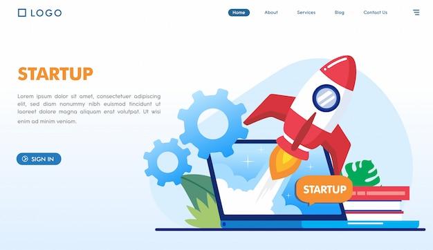 Modèle de page de destination pour les entreprises en démarrage